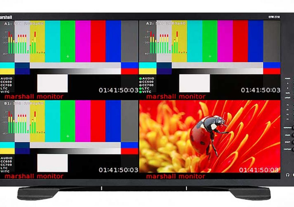 Marshall Electronics QVW-2710 Quad-Viewer Monitor 1