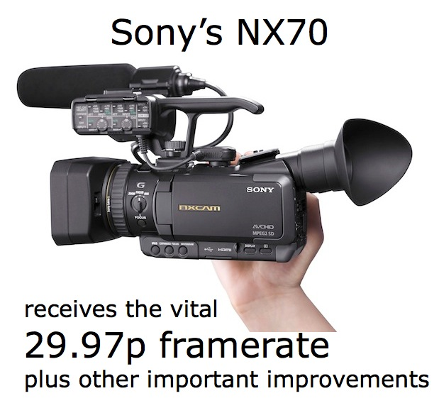 Sony's NX70 camera to receive its missing 29.97p framerate via free firmware update 1