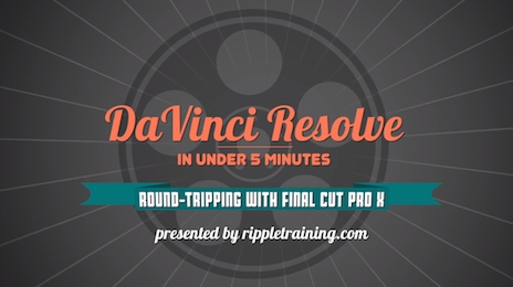 Davinci Resolve: Roundtripping with Final Cut Pro X 7