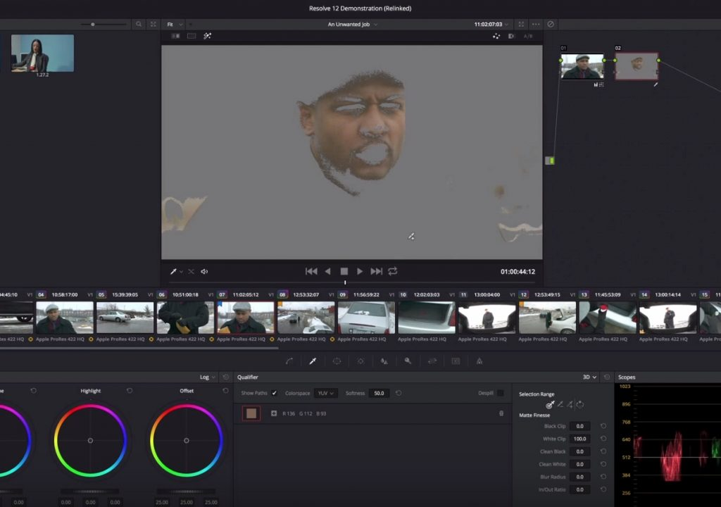 Using the new 3D qualifier in Resolve 12 4