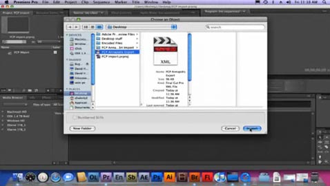 Import FCP Projects into Adobe Premiere CS4 1