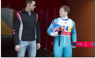 DF-01296_R - Taron Egerton, right, and Hugh Jackman star in EDDIE THE EAGLE.