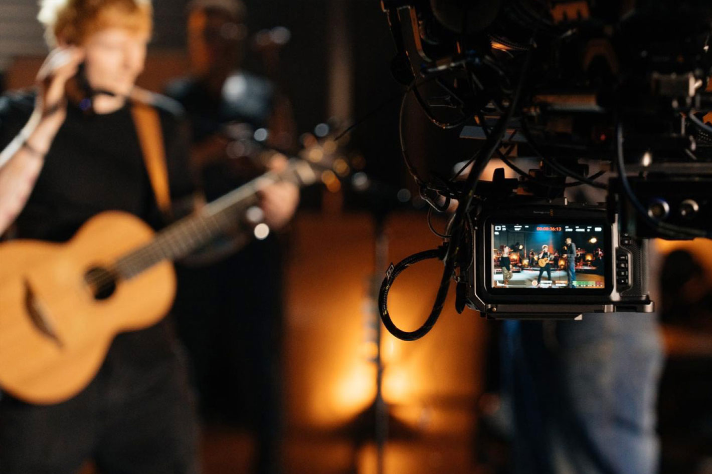 URSA Mini Pro 12K used to shoot Ed Sheeran's performance