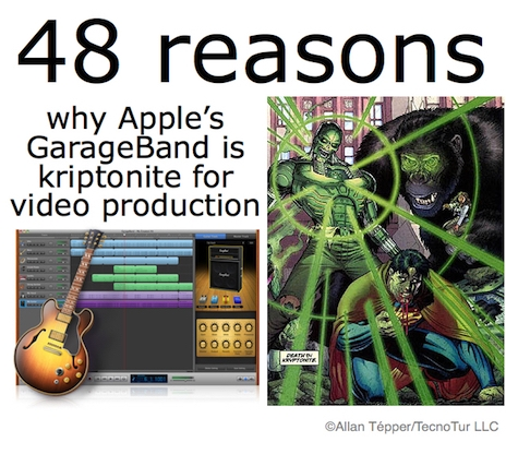 48 reasons why GarageBand is kryptonite for video production 14