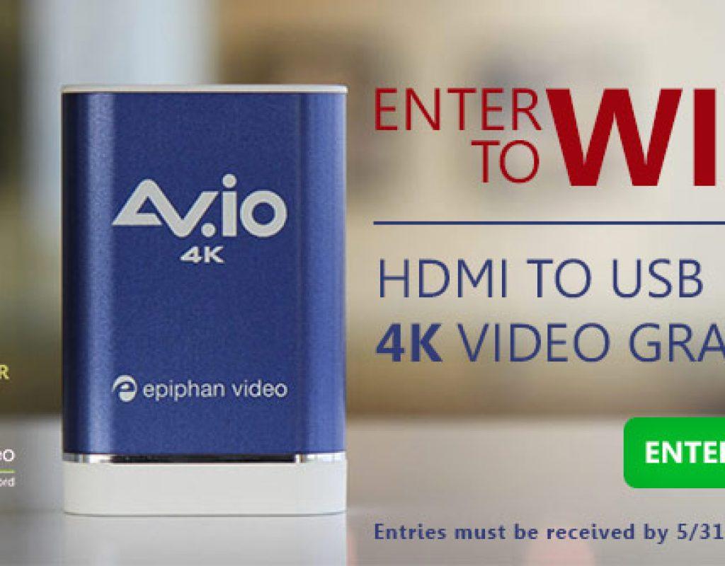 Win an Epiphan AV.io 4K Video Grabber from Videoguys.com 2
