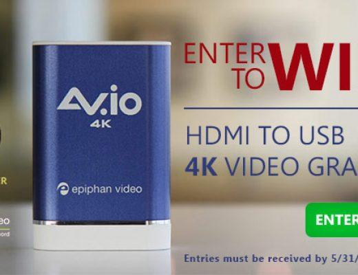 Win an Epiphan AV.io 4K Video Grabber from Videoguys.com 5