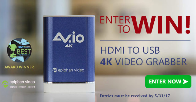 Win an Epiphan AV.io 4K Video Grabber from Videoguys.com 4