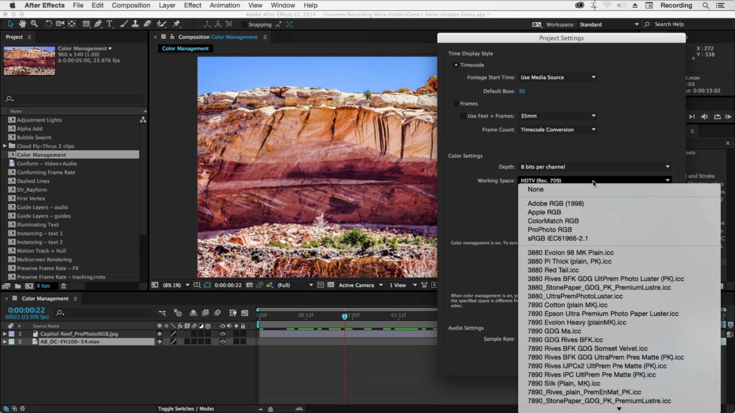 After Effects Hidden Gems: Color Working Space by Chris and