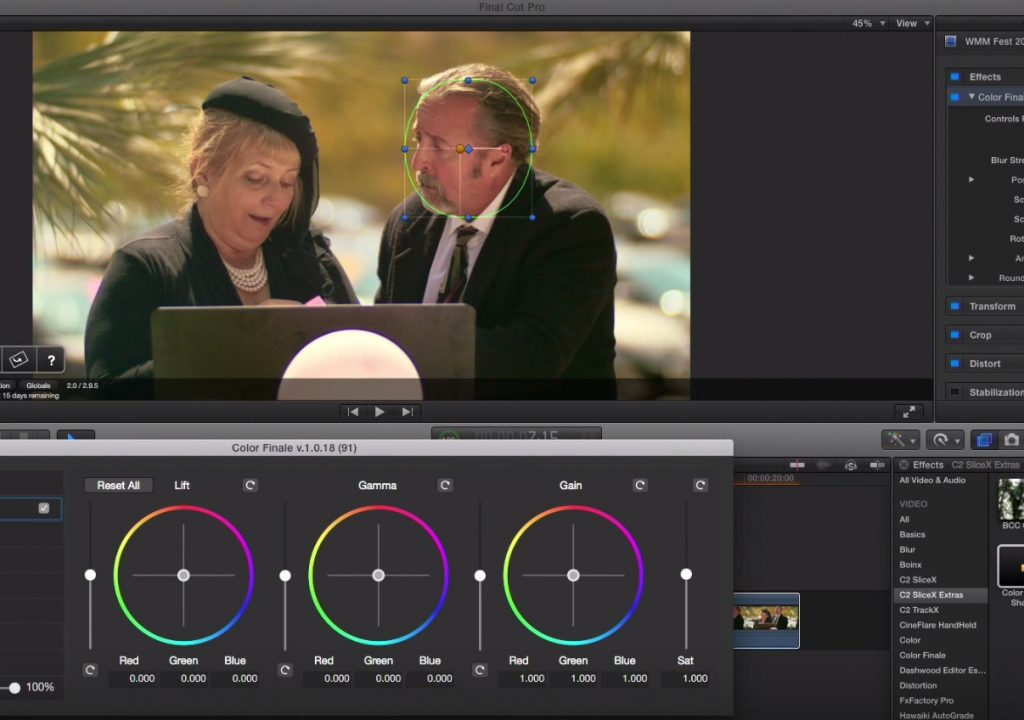 Tracking color corrections in Final Cut Pro X 1