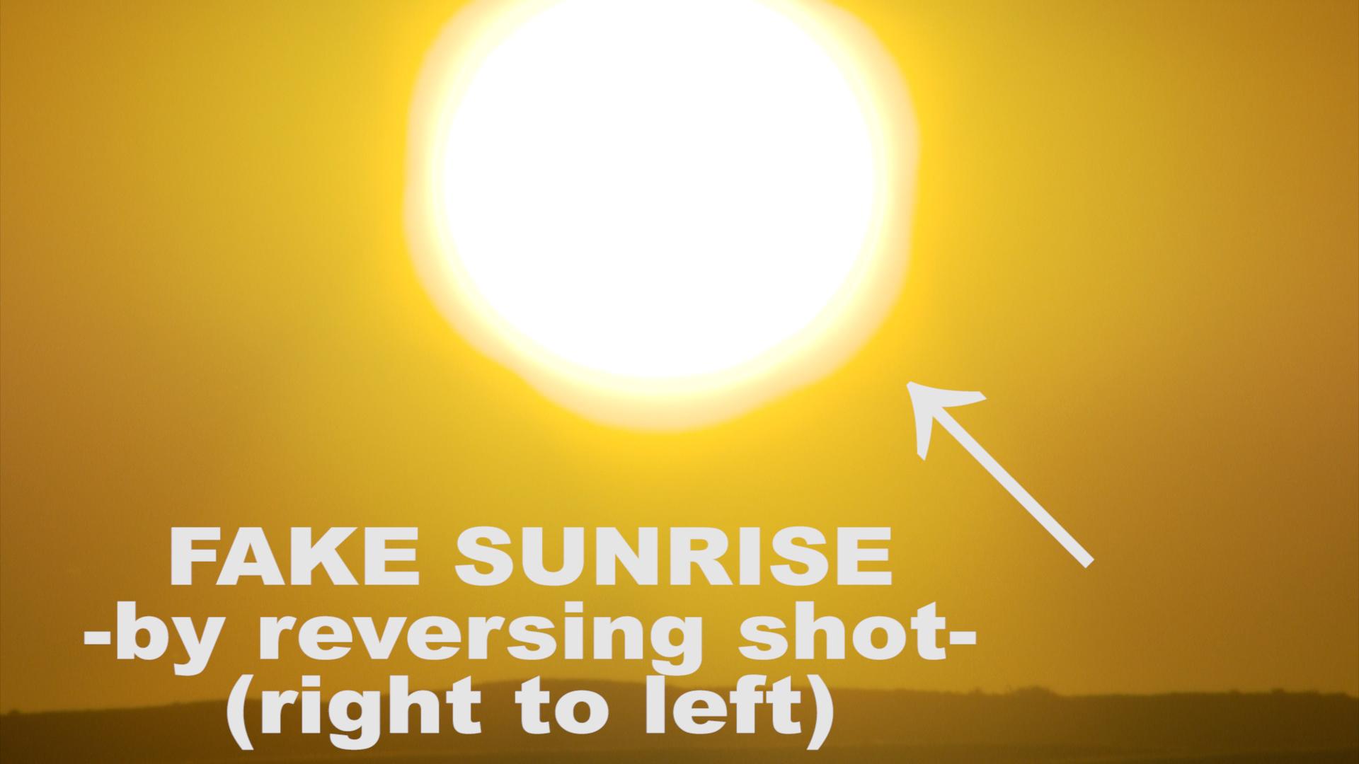 fake sunrise