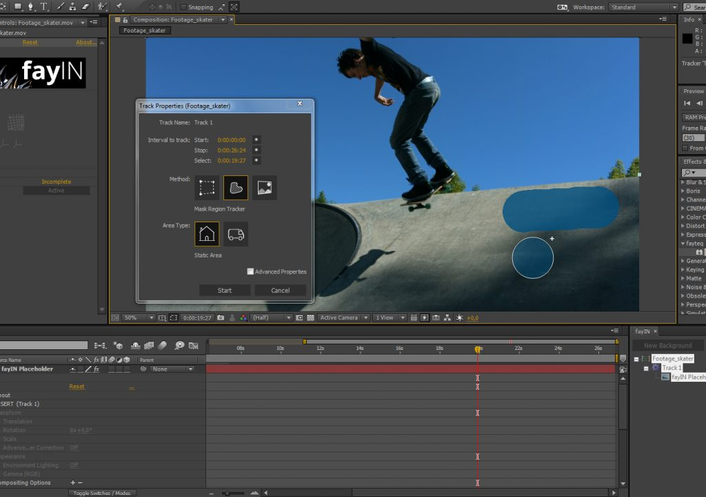 A brand new Adobe After Effects plugin for highly efficient automated camera tracking and digital inserts 1