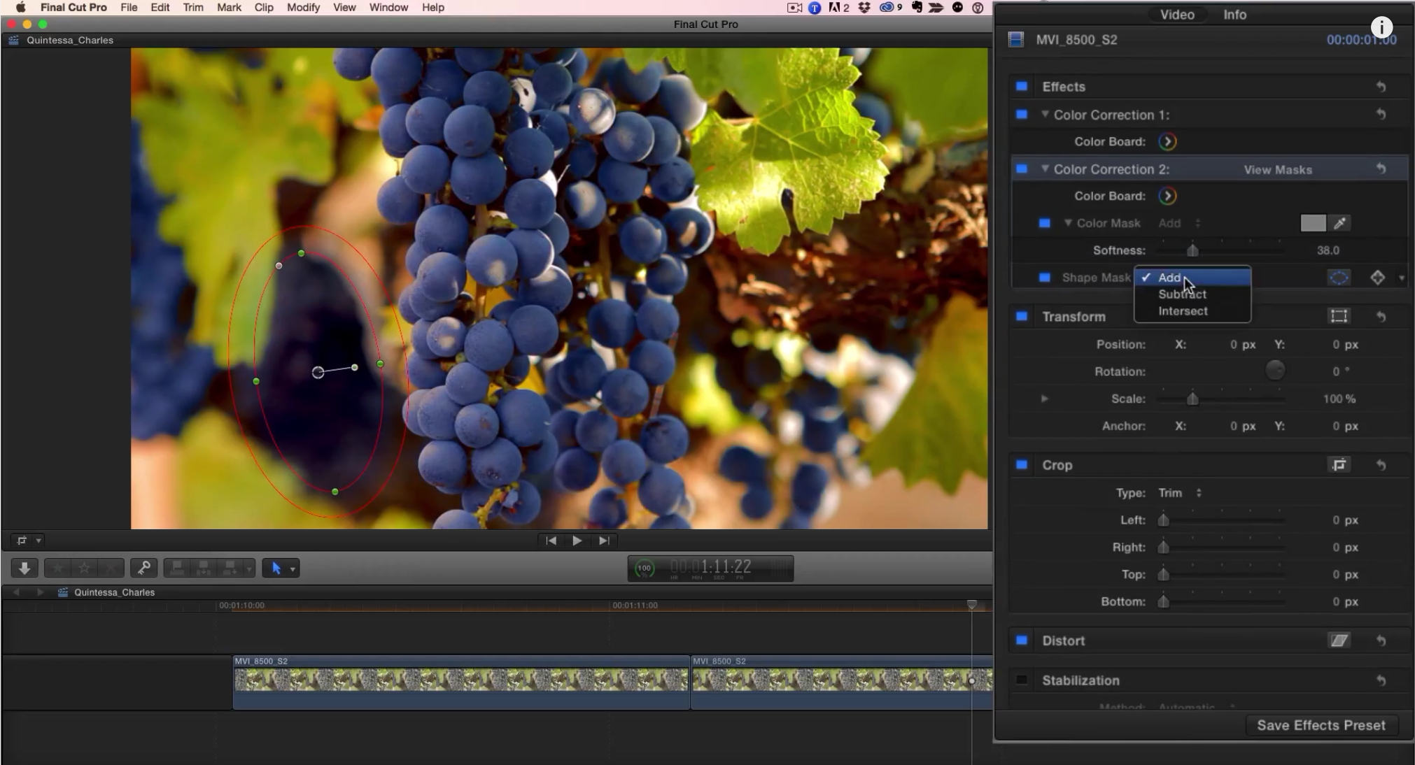 Punching Up a Shot in Final Cut Pro X by Mark Spencer