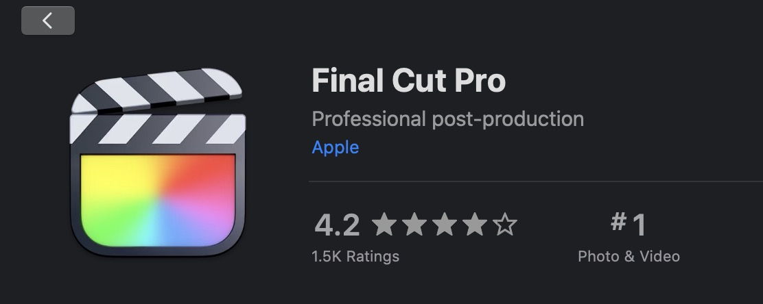 Final Cut Pro updated to 10.5 and loses the X 4