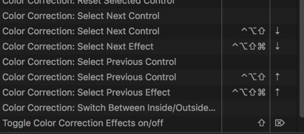 FCPX my color mappings