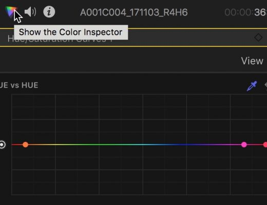 FCPX color inspector