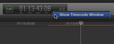 fcpx showtimecode