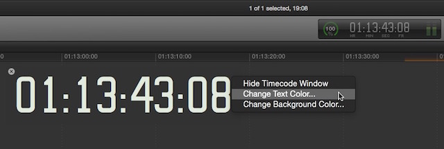 fcpx timecode change