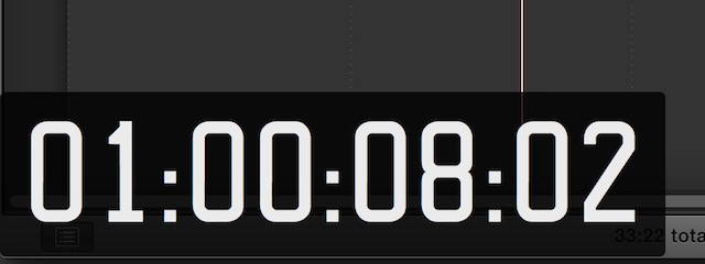 fcpx timecode default