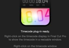 A floating timecode window comes to FCPX