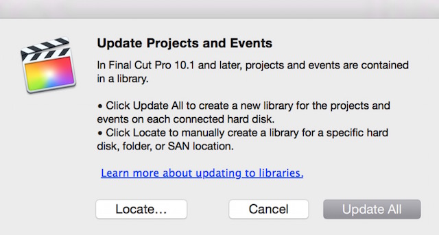 Libraries will most likely be updated when upgrading to a new version of FCPX.