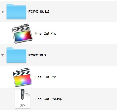 Saving older versions of FCPX means they are there if you need them.
