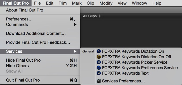 fcpxtra services