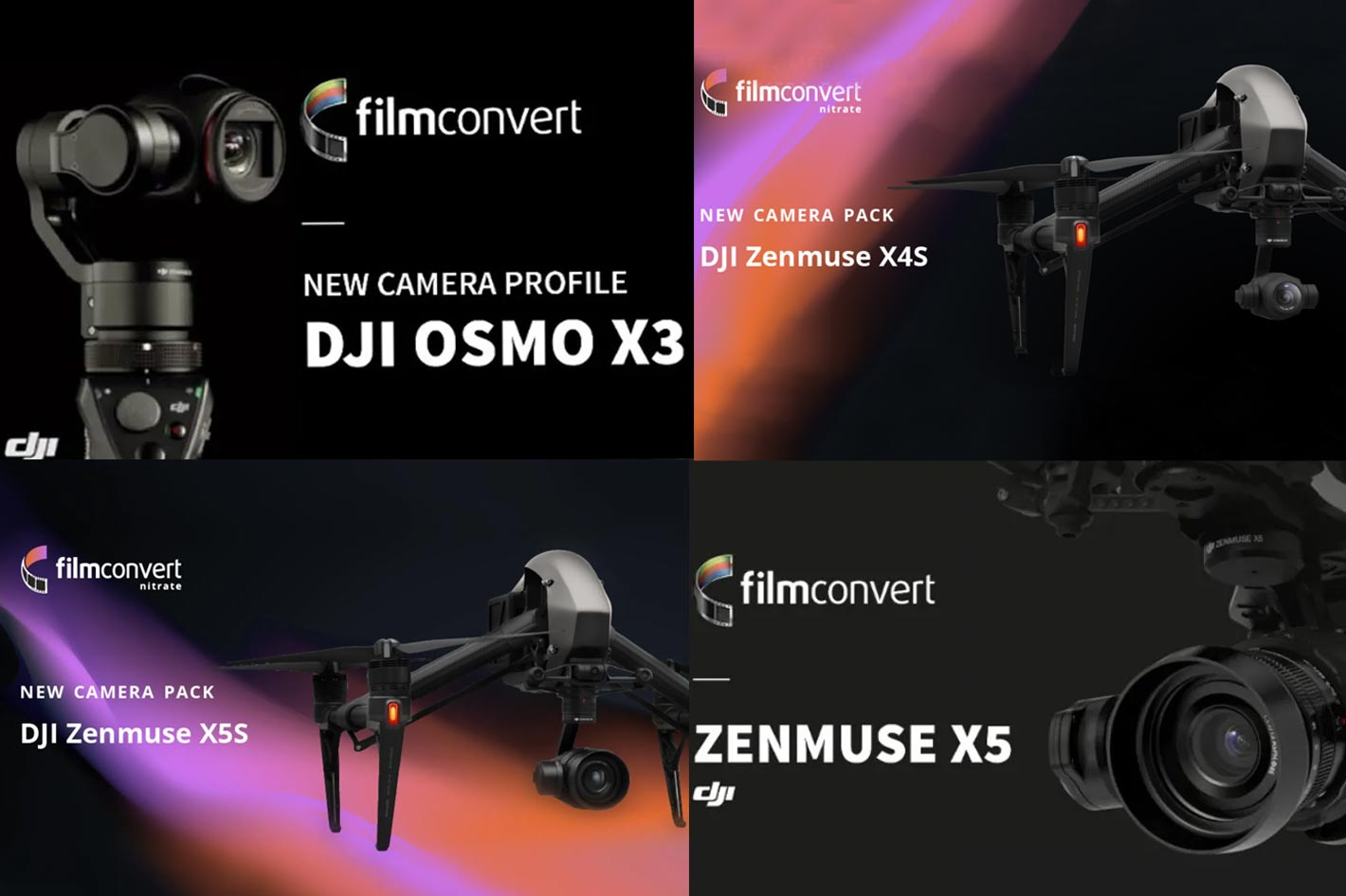 FilmConvert: a new dedicated camera pack for the DJI Zenmuse X4S