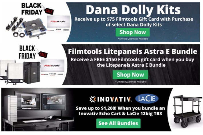 Black Friday Deals from Filmtools