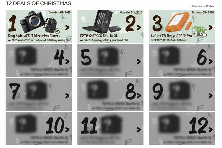 Filmtools has 12 - secret - Deals of Christmas