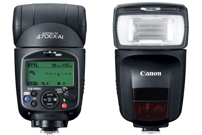 Canon Speedlite 470EX-AI: no radio, but auto bounce