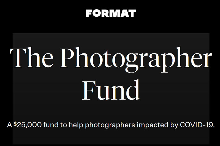 Format announces a Photographer Fund to help those impacted by COVID-19