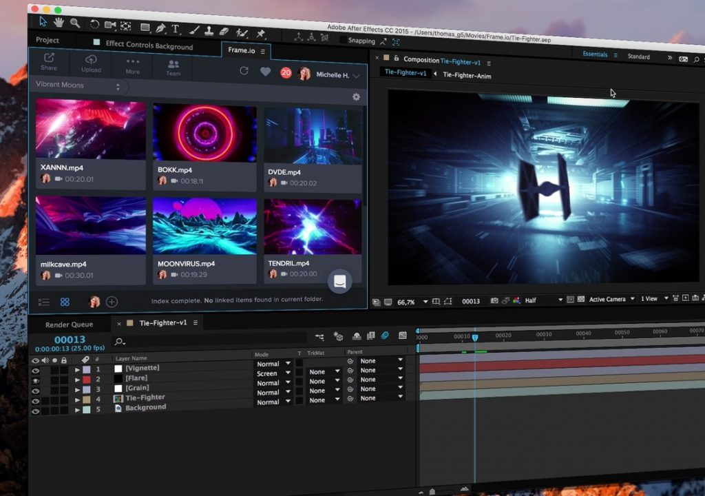 Frame.io launched a panel for Adobe After Effects 1