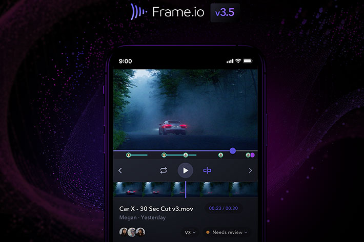 Frame.io v3.5: new features include secure sharing and media search 1