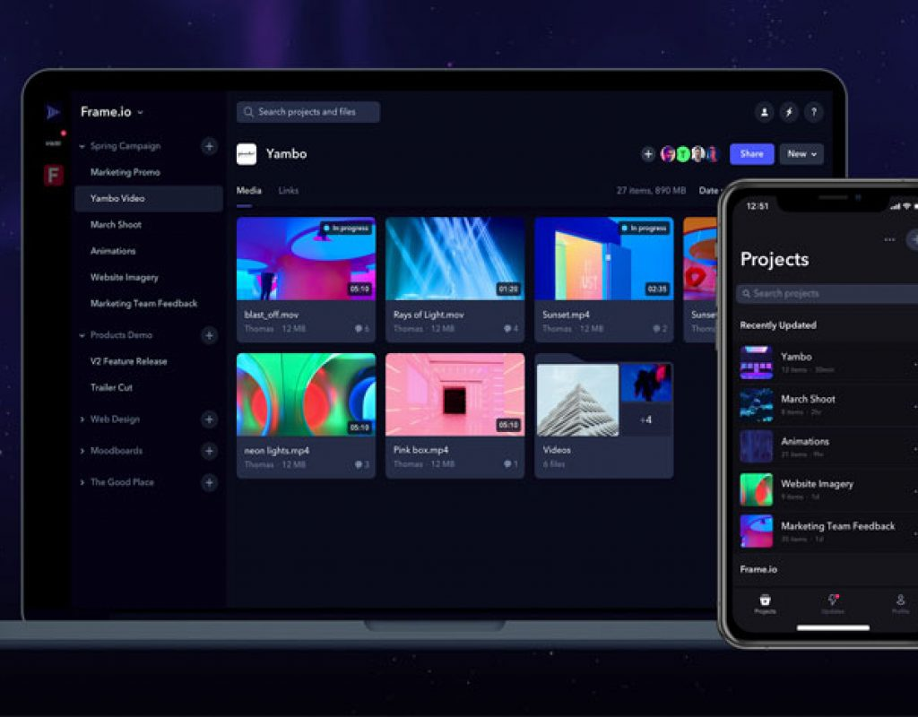 Frame.io: 10 new features to improve video collaboration