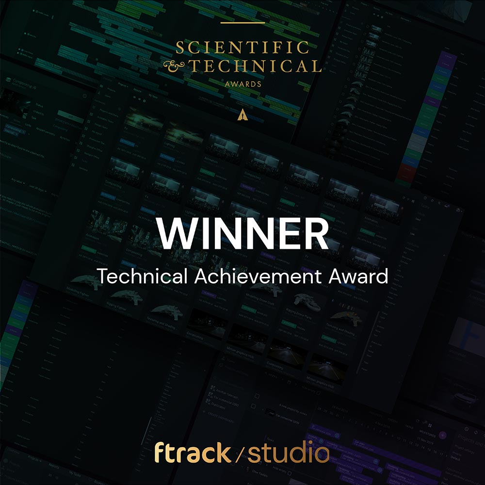 ftrack Studio honored with a Technical Achievement Award