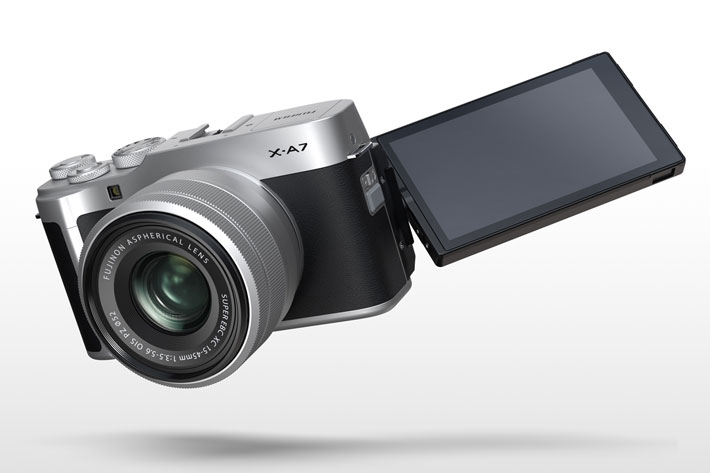 Fujifilm X-A7 mirrorless creates 4K video from 6K data