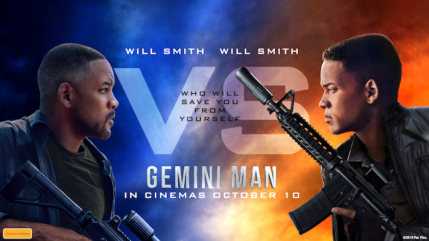 Gemini Man Poster edited by Tim Squyres