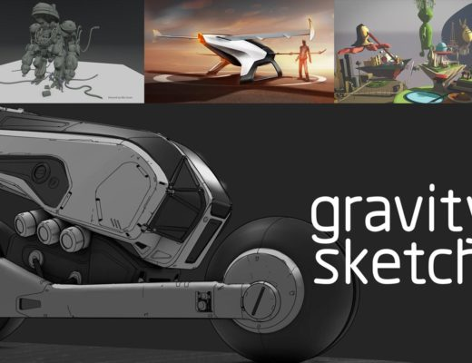 Gravity Sketch: set design and storyboarding in VR
