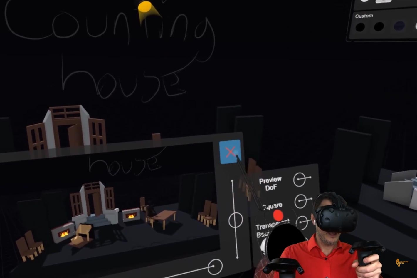 Gravity Sketch: set design and storyboarding in VR