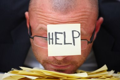 HELP -Overworked businessman