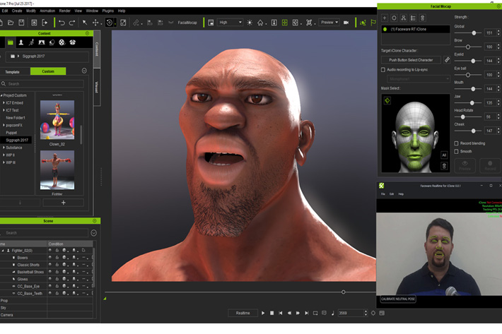Real-time face and body mocap at Siggraph 2017
