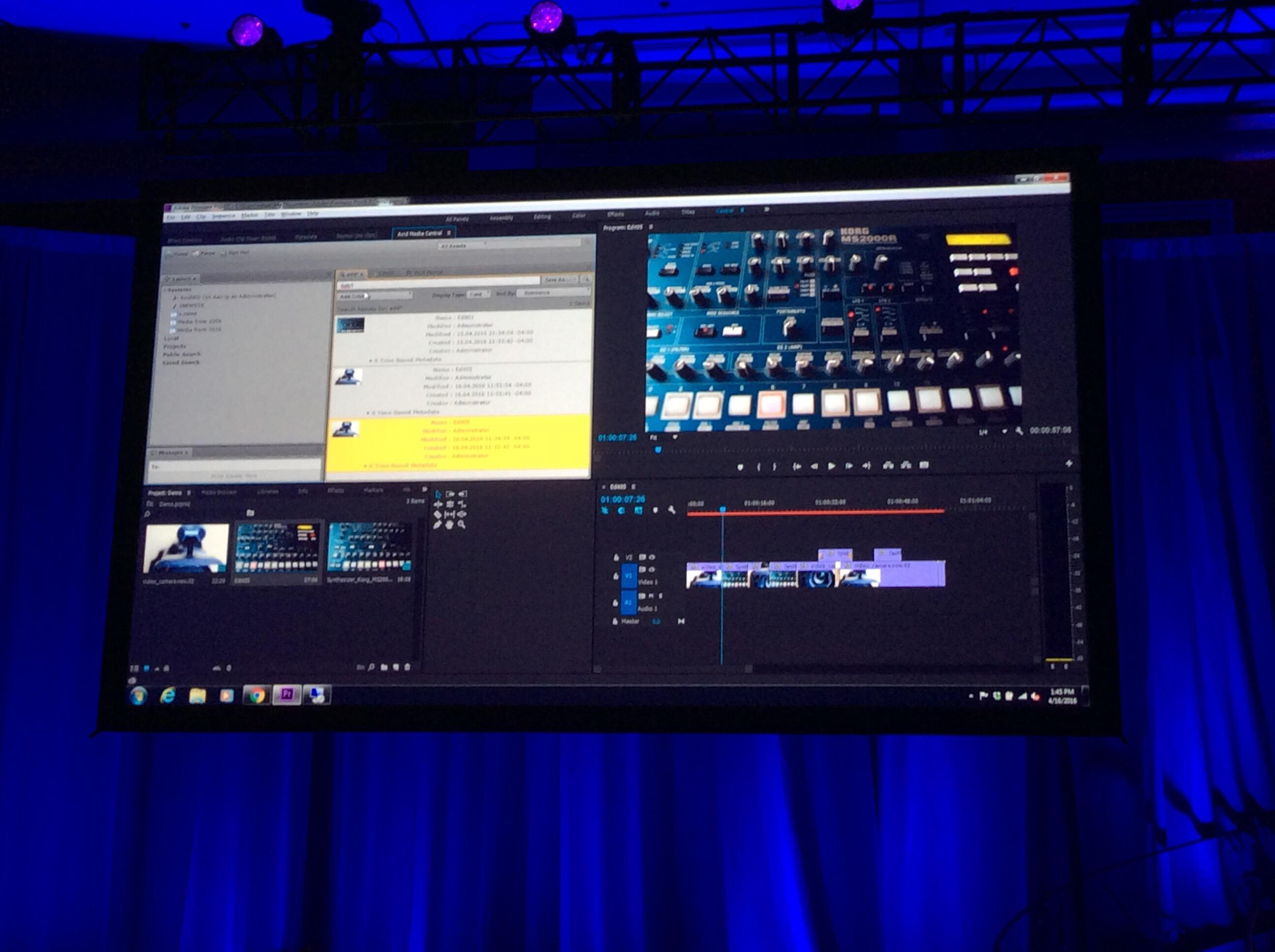 Avid Connect 2016 Keynote at NAB 2016 11