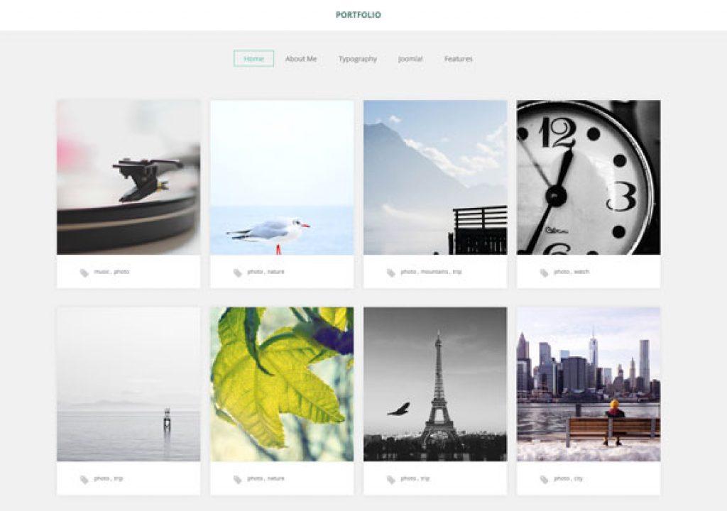 A FREE portfolio template for photographers 1