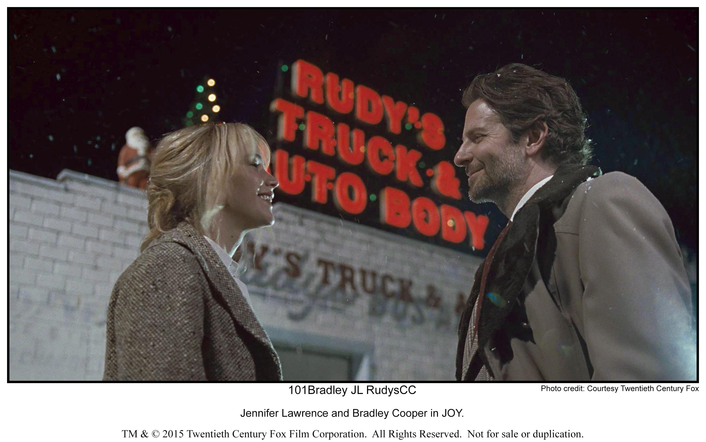 Jennifer Lawrence and Bradley Cooper in JOY.