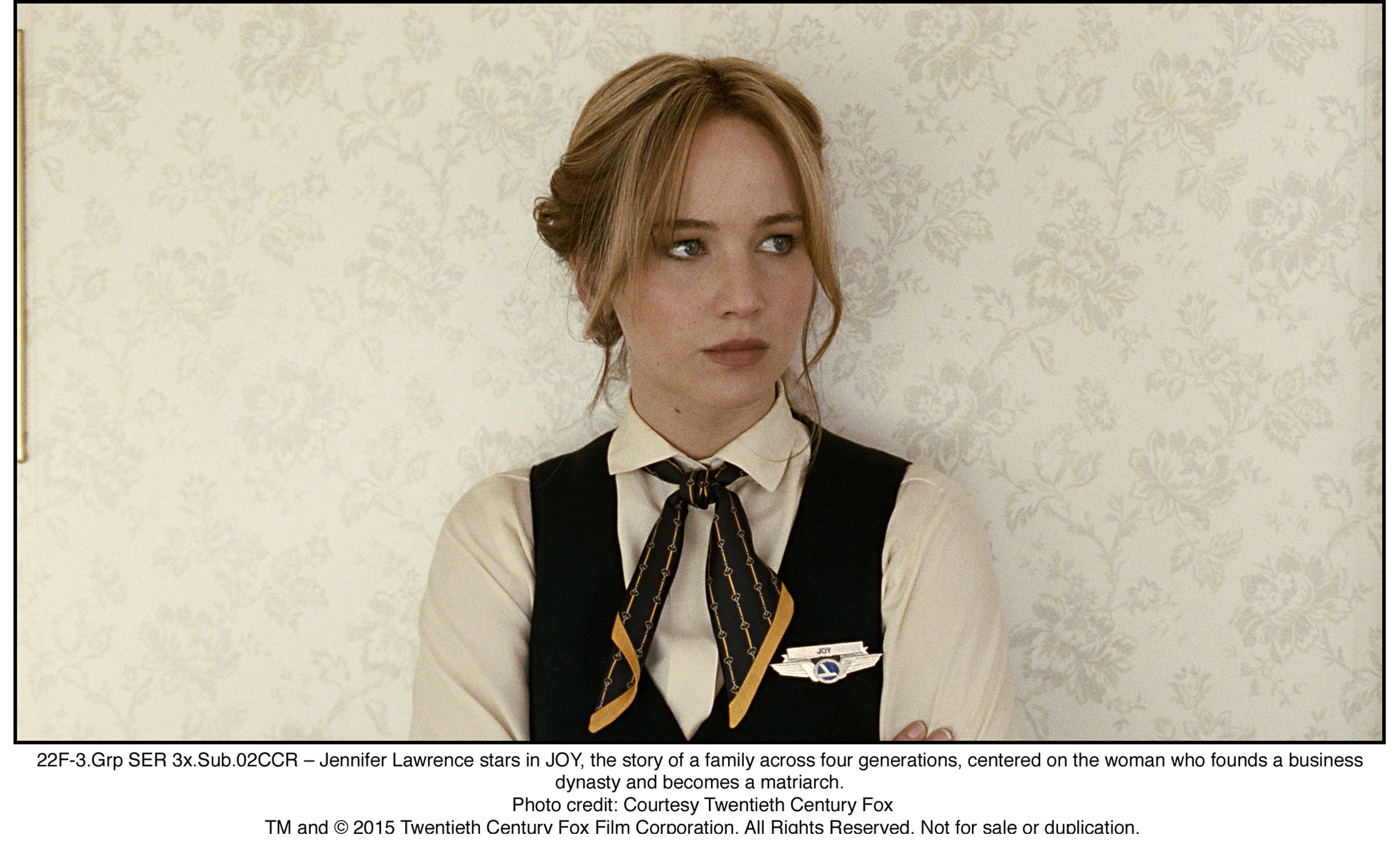 22F-3.Grp SER 3x.Sub.02CCR – Jennifer Lawrence stars in JOY, the story of a family across four generations, centered on the woman who founds a business dynasty and becomes a matriarch.