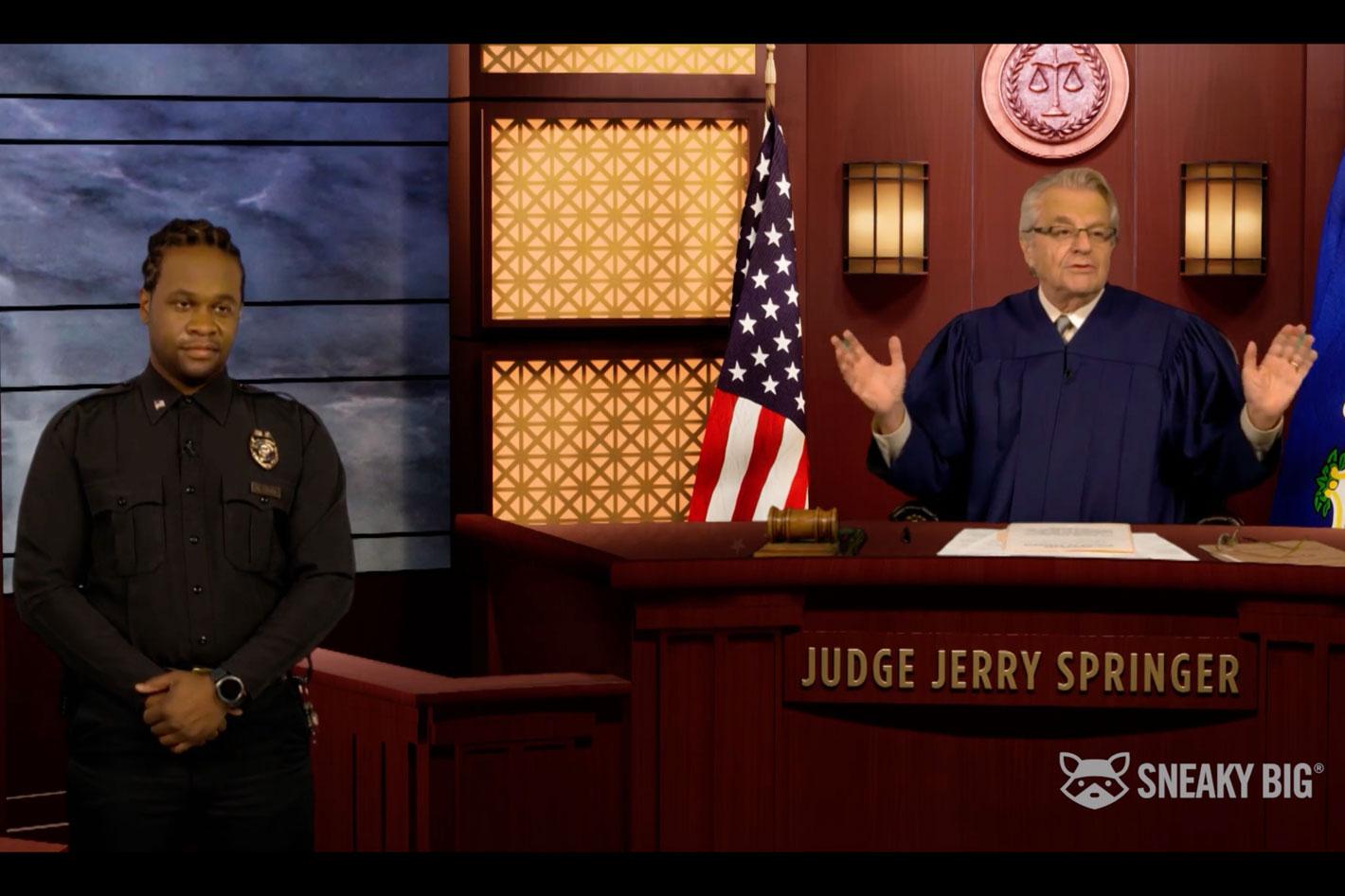 """Judge Jerry"" TV series filmed in a ""quarantine court"""