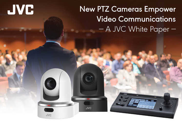 JVC KY‑PZ100 robotic PTZ video cameras reduce costs and