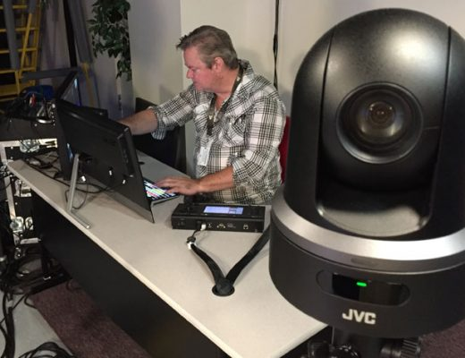 Podcast studio uses JVC KY-PZ100 robotic PTZ video production cameras 2