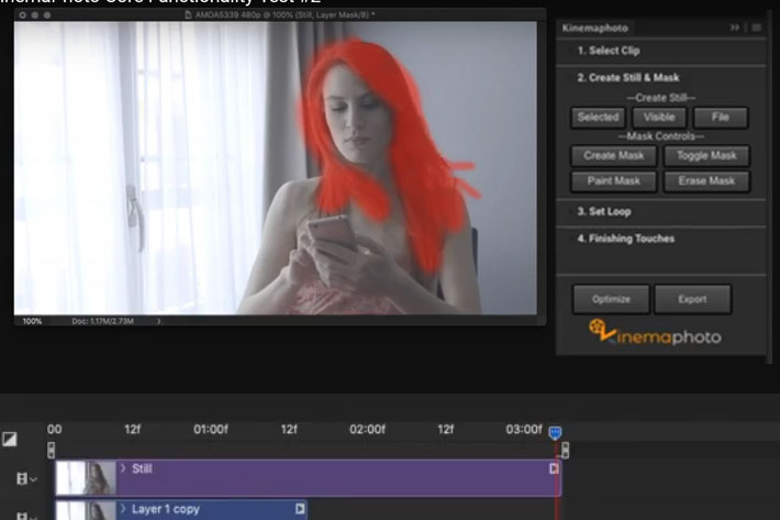 KinemaPhoto: a Photoshop extension for cinemagraphs