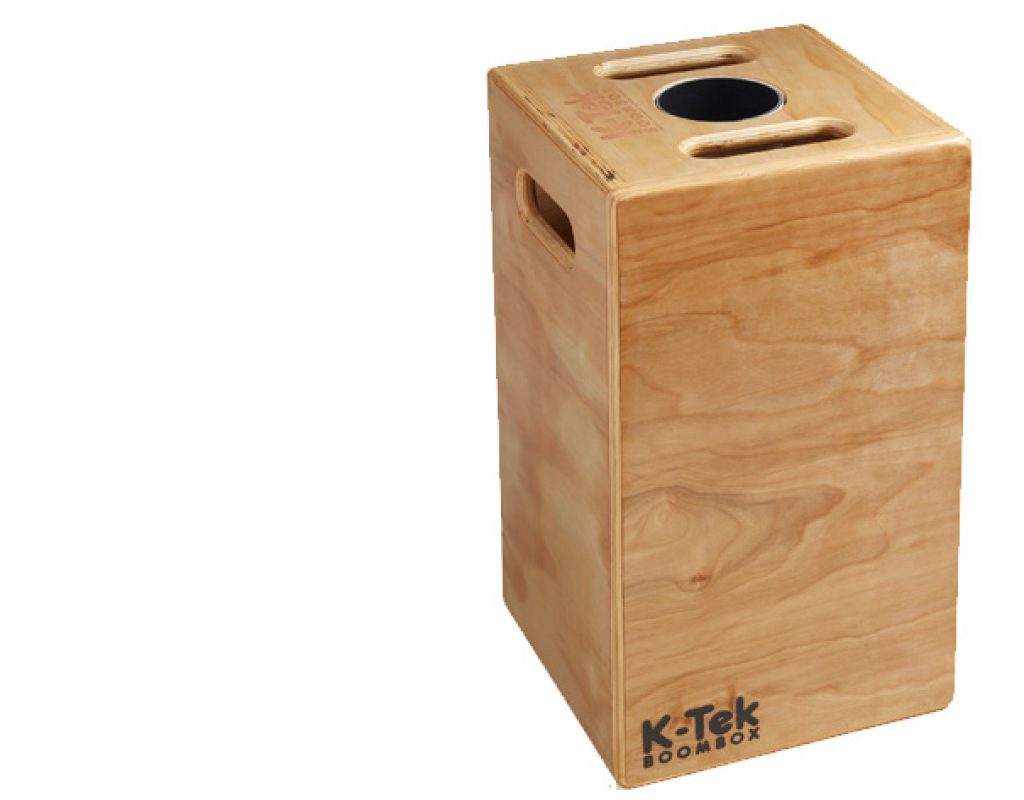 The K-Tek Boom Box doubles as an Apple Box